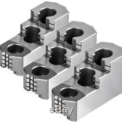 10 Chuck Jaw Double Step Hard Jaw Reversible 3PCS Set External Jaw Practical