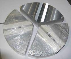 10(D) x 2.0(H) Full Grip Aluminum Pie Soft Jaws for Power Chucks 1 Set (3 Pcs)