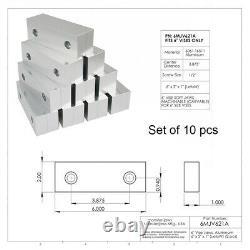 10 PACK 20pcs 6 x 2 x 1 Machined Aluminum Soft Jaws Set Fit For Kurt 6 Vises