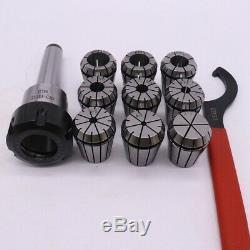 10x9Pcs Er32 Spring Collets Set 2/4/6/8/10/12/16/18/20Mm + 1Pcs Mt3 M12 Er32 C