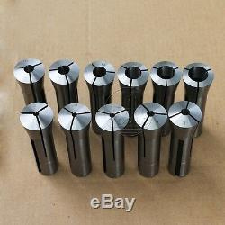 11Pcs Precision R8 Collet Set NEW 3mm 20mm Assortment Kit Drawbar Thread M12