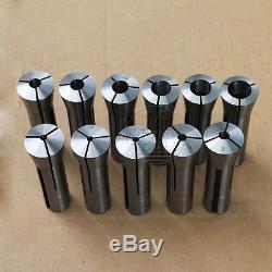 11Pcs Precision R8 Collet Set NEW 3mm 20mm Kit Drawbar Thread 7/16-20 TPI