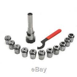 11pcs ER32 Spring Collets Set With R8-ER32 Collet Chuck Holder For CNC Milling L