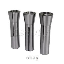 11pcs Metric R8 Round Collet Holder Set for Turret Milling Machine Silver