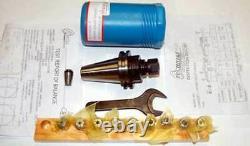 12 Pc Techniks CAT 40 ER16-2.76 CNC Chuck Kit-10 Pcs. Coolant Collet Set, Wrench