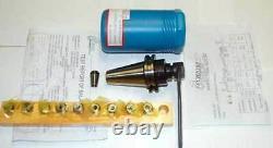 12 Pc. Techniks CAT 40 ER16-2.76 CNC Collet Chuck Kit-10 Pcs. Collet Set, Wrench