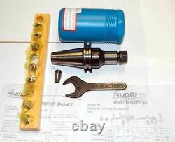 12 Pc Techniks CAT 40 ER 16-4 25K CNC Collet Chucks Kit-10 Pcs. Collet Set, Wrench