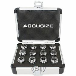 12 Pcs ER-20 Collet Sets Holding End Mills, Size From 1/16'' To 1/2'' Fitted Alu