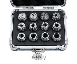 12 Pcs ER-20 Set, Size from 1/16 to 1/2 in Fitted Strong Alum Box, #0223-0799