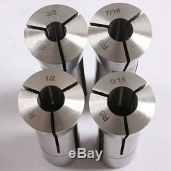 13Pcs Precision R8 Collets Set 1/8 7/8 Inch Mill Chuck Holder for Bridgep G3C7