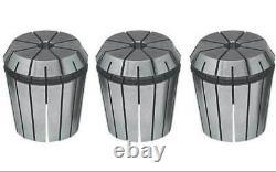 13 Pcs. GS Sowa ER 25 Inch/Fraction Steel Sealed Coolant CNC Collet Set-2000 PSI