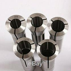 13pcs Precision R8 Collets Set 1/8 7/8 Mill Chuck Hardened Ground Throughout