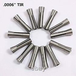 13pcs Precision R8 Collets Set 1/8 7/8 Mill Chuck Holder For FREE SHIP