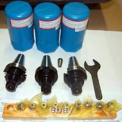 14 Pc Techniks CAT 40 ER16-2.76 CNC Chucks Kit-10 Pcs. Coolant Collet Set, Wrench