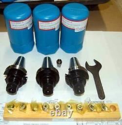 14 Pc. Techniks CAT 40 ER16-2.76 CNC Collet Chucks Kit-10 Pcs. Collet Set, Wrench