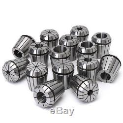 15Pcs 1/8 to 1 Pouce ER40 Ressort Collets Set pour CNC Fraisage Tour Tool