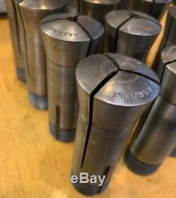 16pcs! Genuine Hardinge 4C Collet Set 1/32 To 3/4 W110