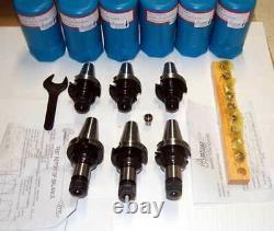 17 Pc. Techniks CAT 40 ER 16 25K CNC Collet Chucks Kit-10 Pcs. Collet Set, Wrench
