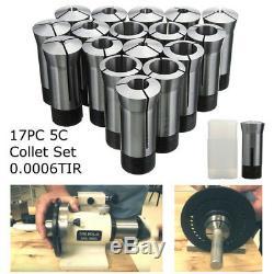 17pcs 5C Collet Set for CNC Milling Engraving Machine Lathe Tool