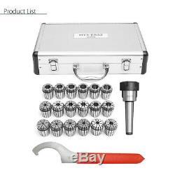 18Pcs 3-20mm Precision MT3 Shank ER32 Collet Chuck Set Spanner + Box For Milling