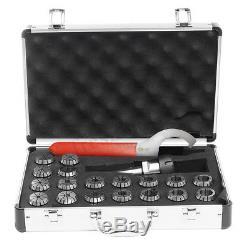 18Pcs MT3 Shank ER32 Collet Chuck Set & Spanner For Mill Metric Precision + Box