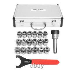 18pcs 3-20mm Collects Set MTB3 ER32 Collet Chuck Set 1/2 Inch Thread with Chuck