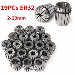 19Pcs ER32 Precision Spring Collet Set CNC Milling Lathe Tool Chuck 2-20MM