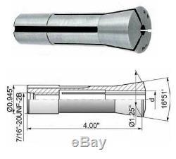 19 Pcs. 2mm-20 mm x1mm R8 Precision Metric Round Spring Collet Set-0.0004 TIR