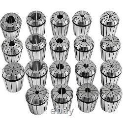 19 Pcs Spring Collet Set ER32 Collet Chuck Holder Wrench for CNC Milling Lathe