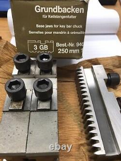 1 Set (3pcs) GRUNDBACKEN 94006 3pc. Base Jaw Set. 3 GB Type 250mm (loc F19)