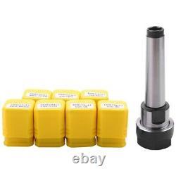 20X1set MT2 ER20 M10 MTB2 Collet Chuck Morse#2 Taper ToolHolder+7pcs sp collet