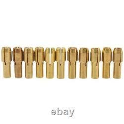 20XFashion 11Pcs/Set Mini Drill Brass Collet Chuck Accessories for Rotary I4E8
