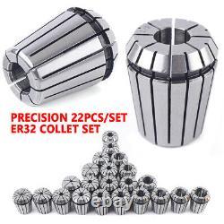 22 Pcs ER32 CNC Milling Tool Lathe Engraving Kit Precision Spring Collet Set USA