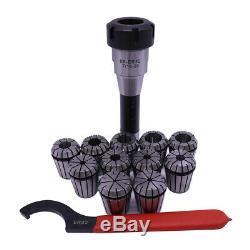 22pcs/2 set ER32 Collet Set MT2 Chuck & Spanner For CNC Workholding Tools