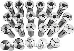 23PCs Precision R8 Collets Set Mill Chuck Holde Fit Bridgeport. 0006 1/16-3/4