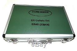 23 PCs ER40 COLLETS SET 1/8 to 1 FOR MILLING LATHE PRIME QUALITY ER 40 COLLET