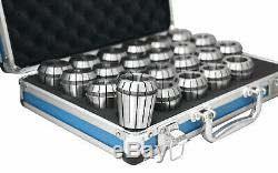 23 Pcs ER40 Collet Set 1/8 to 1, 0.0005 in Fitted Strong Box, #0223-0935U