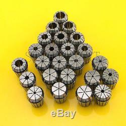 24pcs ER25 Spring Collet Chuck Tool Set CNC 1mm-16mm 1.5mm-5.5mm 1/8 1/4 1/2