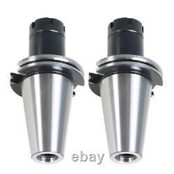 2Pcs CAT50-ER32 COLLET CHUCK 4 Gage Length Tool Holder Set