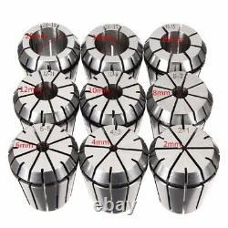 2X10Pcs ER32 Spring Collets Set 2/4/6/8/10/12/16/18/20mm + MT3 M12 ER32 Co P8O4