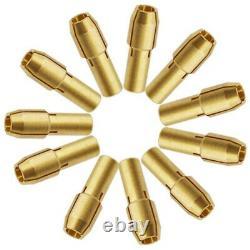 30XFashion 11Pcs/Set Mini Drill Brass Collet Chuck Accessories for Rotary Q7C6