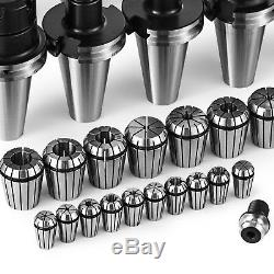 35 Pcs CAT40 CNC Tooling Package Cutter Face Mill Collets Set ER32 16 Industrial