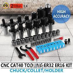35pcs Er16 Super Precision Set Er32 Collet 2'' Face MILL Cutter Cnc Chuck New
