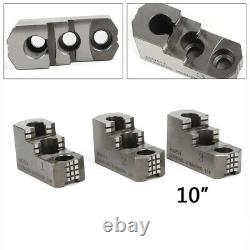3PCS 10 Hard Chuck Jaw Set For Kitagawa B-210 Type 20CrMnTi 1.5mm x 60 Serrated
