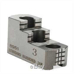 3pcs 10 Hard Chuck Jaw Set for CNC Lathe Chucks Chuck Jacket 20CrMnTi USA STOCK