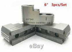 3pcs/set 6 HARD JAWS For B-206 Type 1.5mm x 60 CNC Lathe Chuck Hardened