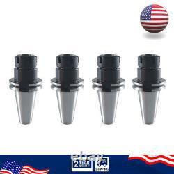 4PCS CAT40 ER25 2.76 SET Collet Chuck Tool Holder CNC Balanced G2.5 20000RPM