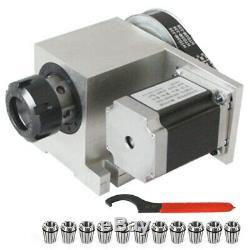 4 Axis CNC Router Sepper Motor 11pcs ER32 Spring Collet Set CNC Hollow Shaft