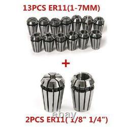 50XHigh Quality 15pcs/set ER11 Precision Sp Collet Set For CNC Engraving