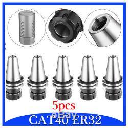 5Pcs/set CAT40 ER32 Collet Chuck Tool Holder 2.76'' Balanced G2.5 20000RPM